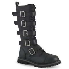 RIOT-18BK  Black Vegan Leather