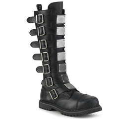 RIOT-21MP  Black Vegan Leather