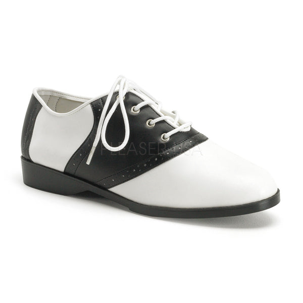 SADDLE-50  Black-White Pu