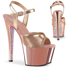 SKY-309TTG  Rose Gold Metallic Pu/Rose G. Chrome-Glitter
