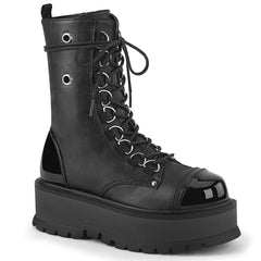 SLACKER-150  Black Vegan Leather-Patent
