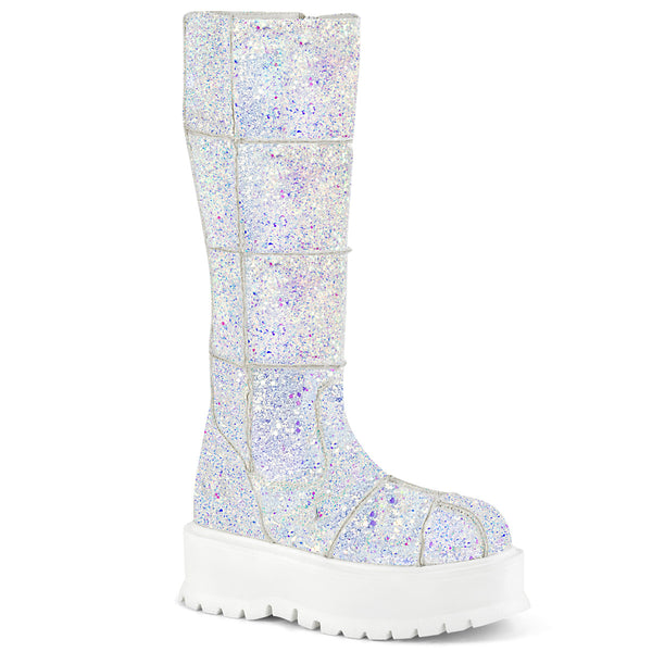 SLACKER-230  White Multi Glitter
