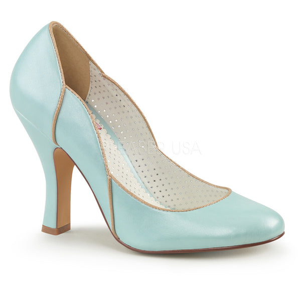 SMITTEN-04  Baby Blue Faux Leather