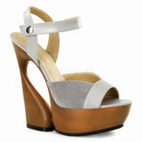SWAN-612  Taupe Kid Leather-Suede