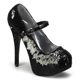 TEEZE-07SQ  Black-Silver Sequins