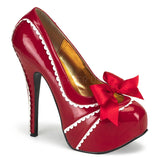 TEEZE-14  Red-White Patent