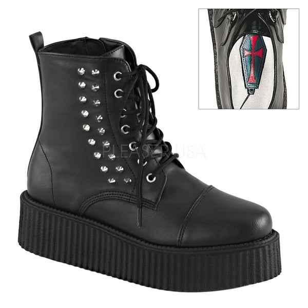 V-CREEPER-573  Black Vegan Leather