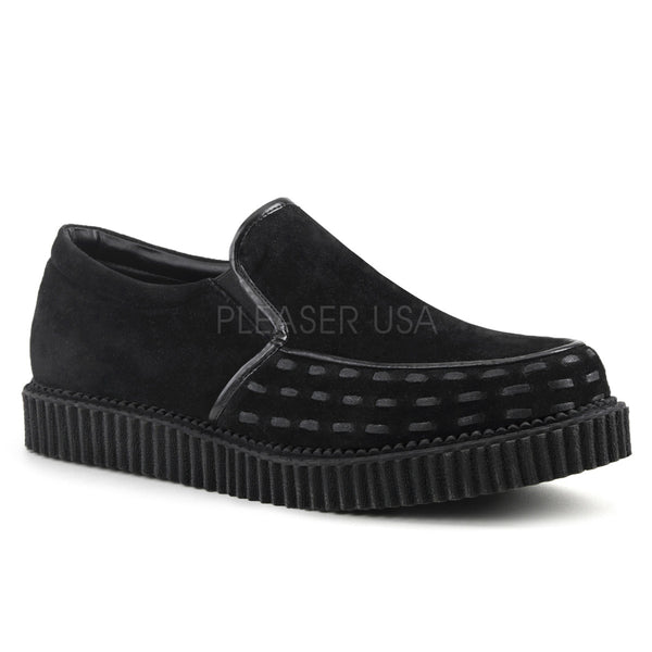 V-CREEPER-607  Black Vegan Suede