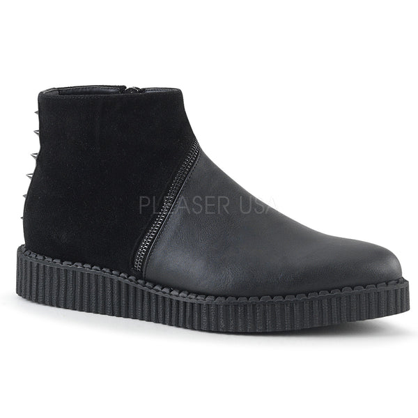 V-CREEPER-750  Black Vegan Leather-Microfiber