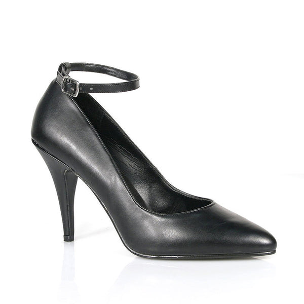 VANITY-431  Black Faux Leather