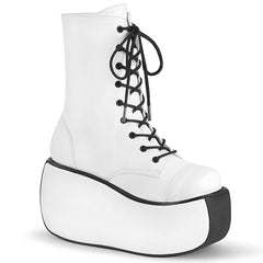 VIOLET-120  White Vegan Leather