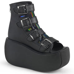VIOLET-150  Black Vegan Leather-Hologram