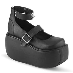 VIOLET-32  Black Vegan Leather