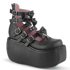 VIOLET-45  Black Vegan Leather