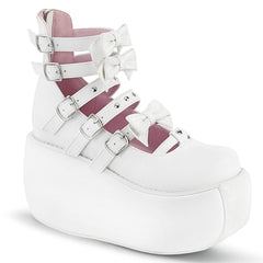 VIOLET-45  White Vegan Leather