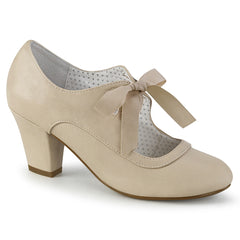 WIGGLE-32  Beige Faux Leather