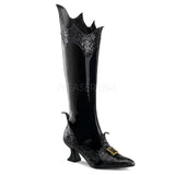 WITCH-101  Black Patent-Glitter