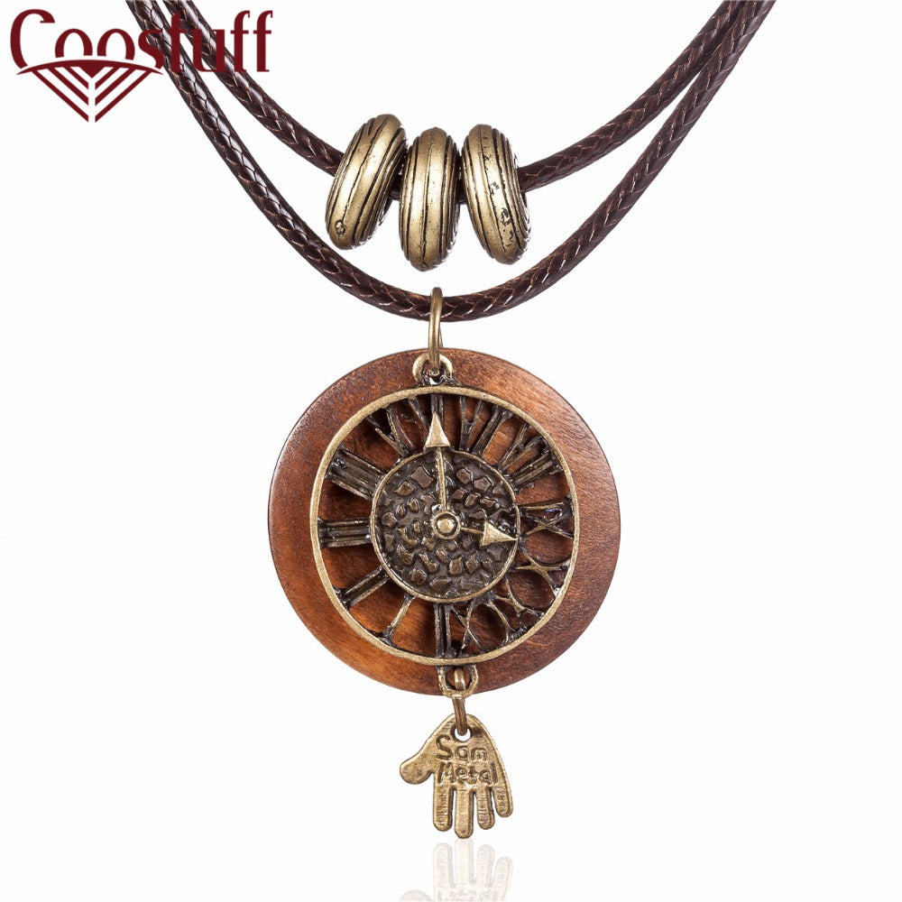 necklace us icing long clock owl