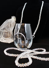 Diamond Crystal Bead Wine Necklace