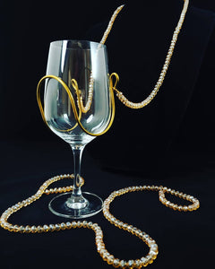 Champagne Crystal Bead Wine Necklace