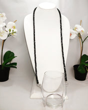 Black Onyx Crystal Bead Wine Necklace