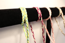 Green, Blue and Yellow Braided Suede - Corking Creations