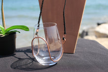 wine glass necklace holder, wine accessories, wine gifts