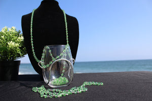Emerald Crystal Bead Wine Necklace - Corking Creations