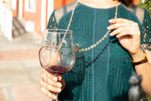 Champagne Crystal Bead Wine Necklace - Corking Creations