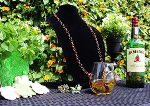 Bronze Chain Wine Necklace - Corking Creations