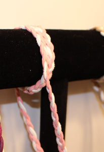 Pink & White Braided Suede - Corking Creations