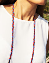 Red, Blue & Brown Braided Suede - Corking Creations