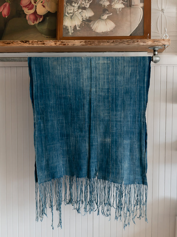Dusty Blue African Mud Cloth