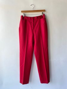 "Vintage Wool Red Trouser 30"" Waist"