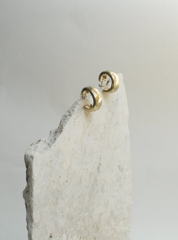 amy vander els big hug handmade brass earrings