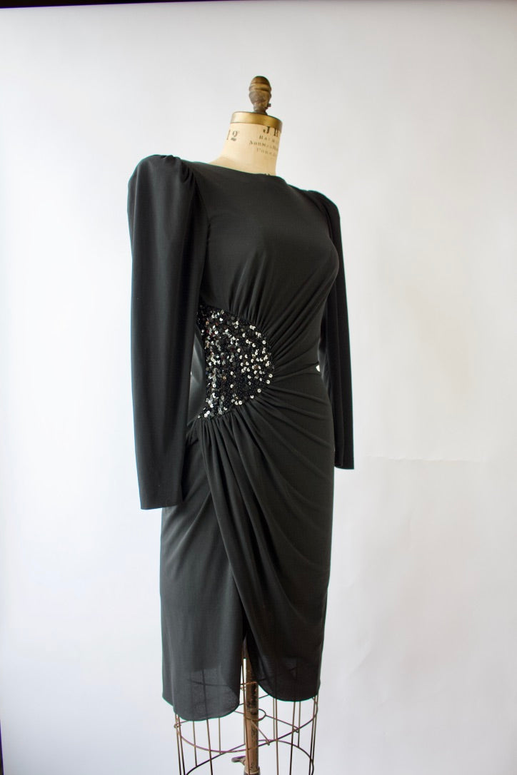 80s Rimini for Saks 5th Ave, Little Black Dress Fits S