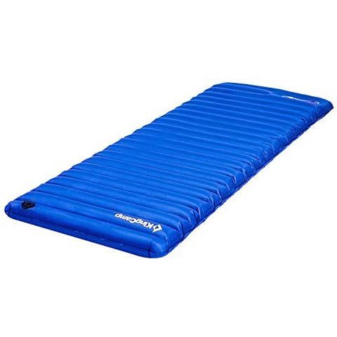 YOHO 4Runner KingCamp Light Single Outdoor Camping Air Mattress Mat Pad Bed with Built-in Foot Pump, Blue, Single