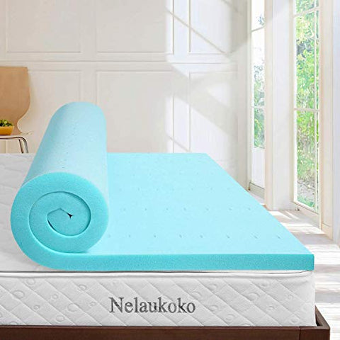 YOHO 4Runner Nelaukoko 2 Inch Full Bed Memory Foam Mattress Topper Ventilated Gel Foam Mattress Pad, Double Size Foam Mattress Topper