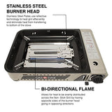 Gas One GS-2200 All in One Portable Butane Wide Butane Stove with Premium Non-stick Deep Grill With Tempered Glass Lid/Camping Gas Stove Burner