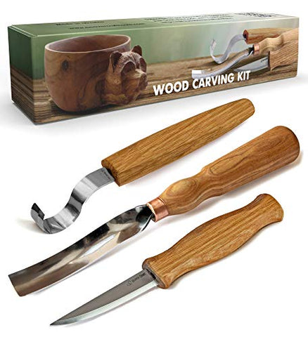 Beaver Craft S14 Wood Carving Tools Kit Wood Carving Set Wood Carving Hook