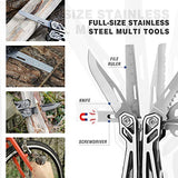 MOSSY OAK Multitool, 21-in-1 Stainless Steel Multi Tool Pocket Knife with Screwdriver Sleeve, Self-locking Multitool Pliers with Sheath-Perfect for Outdoor, Survival, Camping, Hiking, Simple Repair