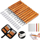 Wood Carving Knife Set - 20 PCS Hand Carving Tool Set for DIY Sculpture Carpenter Experts & Beginners