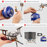 Terra Hiker 3500 W Camping Gas Stove, Backpack Stove, with Convenient Piezo Ignition, Durable, Portable Burner with Carrying Case