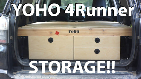 YOHO 4Runner Drawer Storage System - Toyota 4Runner Camping & Overlanding Equipment $255 CDN & UP