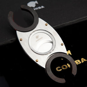COHIBA Double Blades Stainless Steel Cigar Cutter