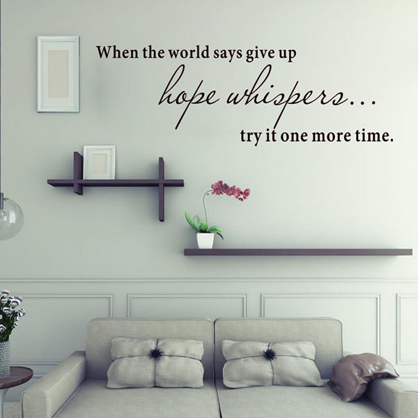 1PC Hope Whispers Wall Sticker Kids Room Decoration