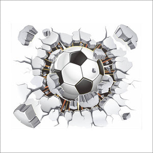 New 3D Football Removable Wall Stickers for Kids Children Room Home Wall Decor