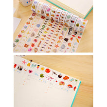 Cute Cartoon Feather Adhesive Washi Tape Masking Tape DIY Decoration Sticky Tape 1.5cm Width