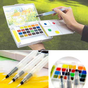 Refillable Water Coloring Brush Pen Ink Pen for Calligraphy Watercolor Painting Drawing