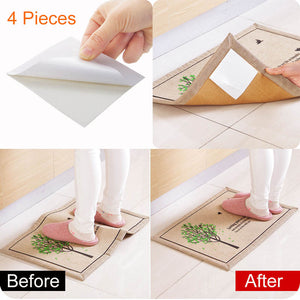 4 Pcs Self-adhesive Stickers Ant-slip Fixed Sticker Decal for Non-woven Fabrics Carpet Rug